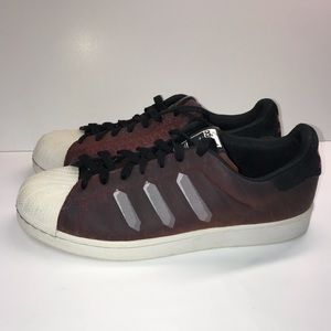 premium selection a220b 1f6b9 adidas Shoes - Adidas Superstar Chromatech Sneakers Burgundy 9